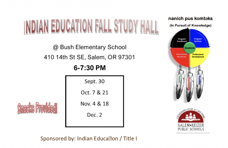 Indian Education Fall Study Hall - 2019