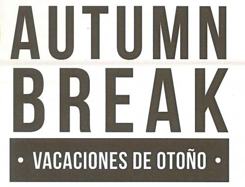 Free Lunch Over Autumn Break | Almuerzo gratis durante las vacaciones de otoño